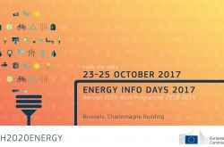 Energy Info Days 2017, Brussels on 23, 24 and 25 October 2017