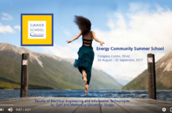 Second Energy Community Summer School 2017, Ohrid, 26 August to 2 September 2017